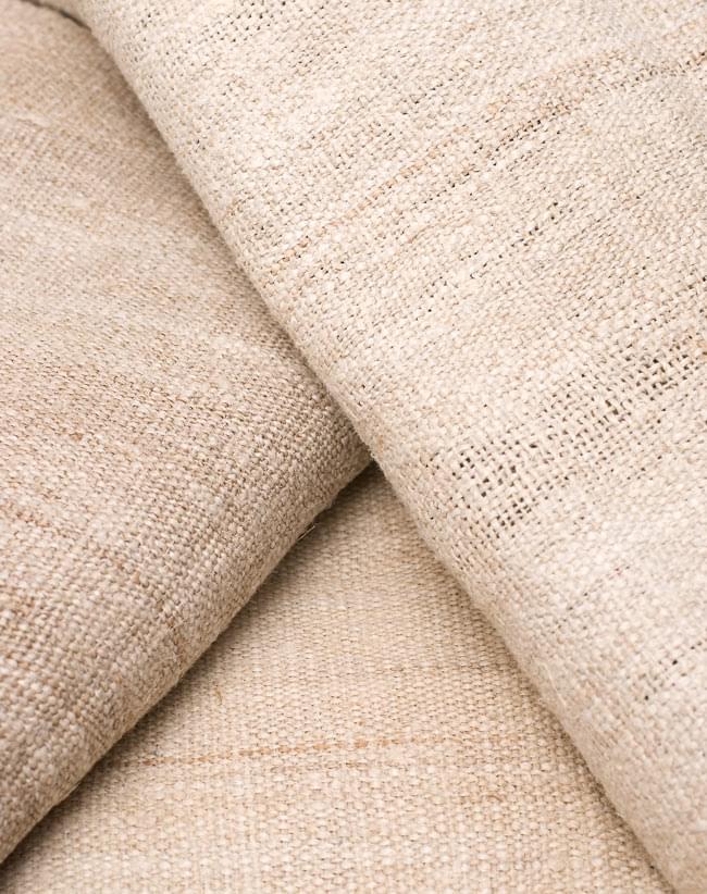 [手芸用]ワイルドヘンプの手織り布地 8 - 天然素材のため、商品により多少色合いが異なります。