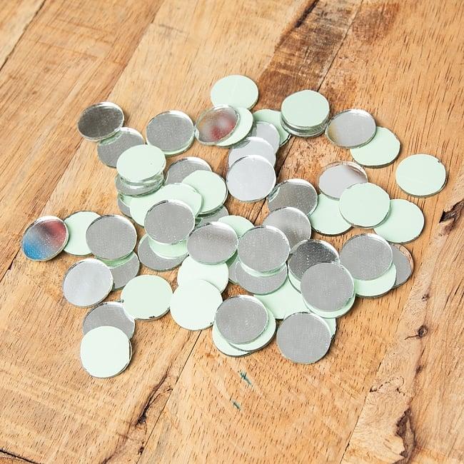 【およそ60枚入り】 丸形鏡セット 【直径約2cm】 3 - 形がわかるように、並べてみました。