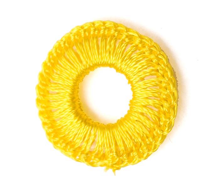 【10個セット】インドの丸鏡カバー 【20mm 黄色】 3 - 裏面です。