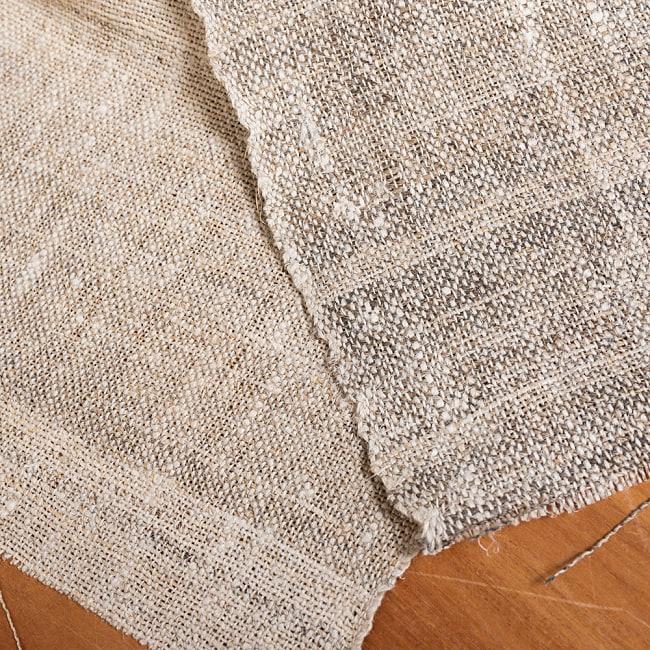 【10個セット】【1m切り売り】ワイルドヘンプの手織り布地 - 幅77cm前後 5 - 荒々しい手触りが魅力的です。