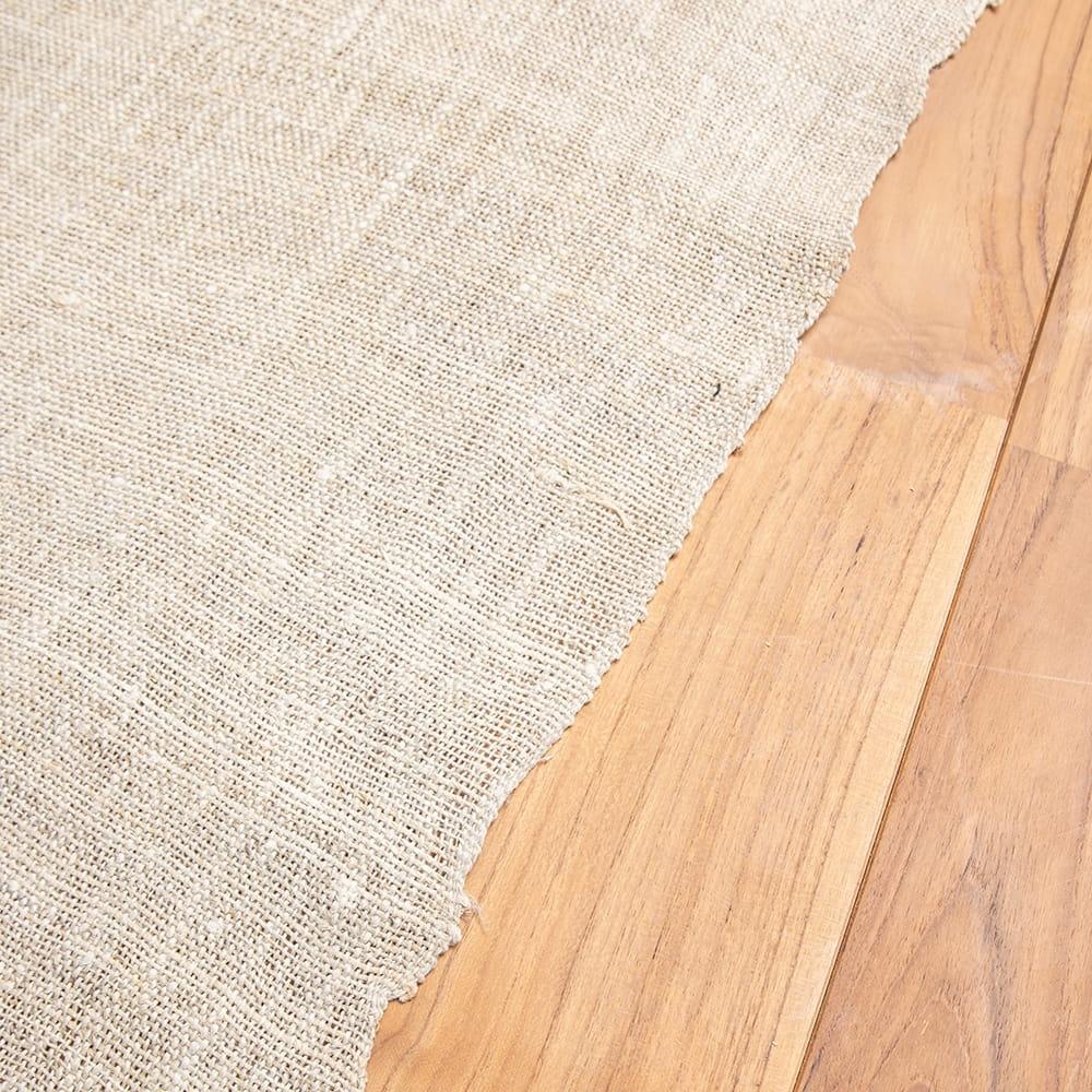 【10個セット】【1m切り売り】ワイルドヘンプの手織り布地 - 幅77cm前後 6 - 手織りのため多少の歪みがあります。