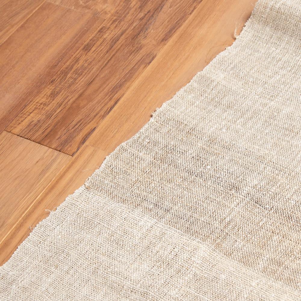 【10個セット】【1m切り売り】ワイルドヘンプの手織り布地 - 幅77cm前後 7 - 手織りのため多少の歪みがあります。