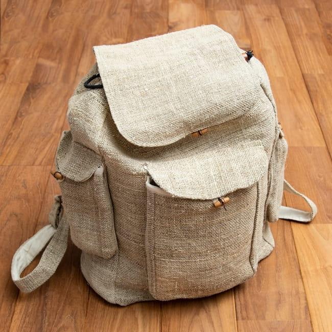 【10個セット】【1m切り売り】ワイルドヘンプの手織り布地 - 幅77cm前後 8 - 世界で一つだけのバッグづくりなどに!