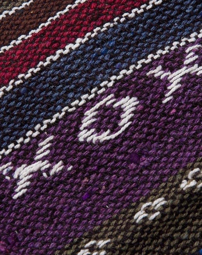 ネパールゲリ素材のブーツカバー 【紫系】 2 - 素材感がわかるようにアップにして撮ってみました。