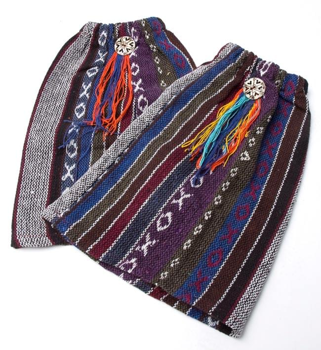 ネパールゲリ素材のブーツカバー 【紫系】の写真