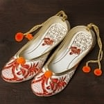 ゴージャス刺繍のマハラニフラットシューズ