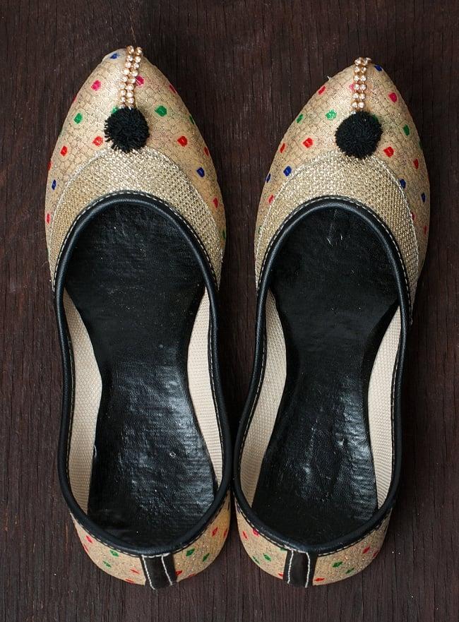 ゴージャス刺繍のマハラニフラットシューズの写真6 - 上からの写真です。