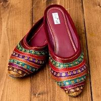 インドのカラフル刺繍スリッパサンダル