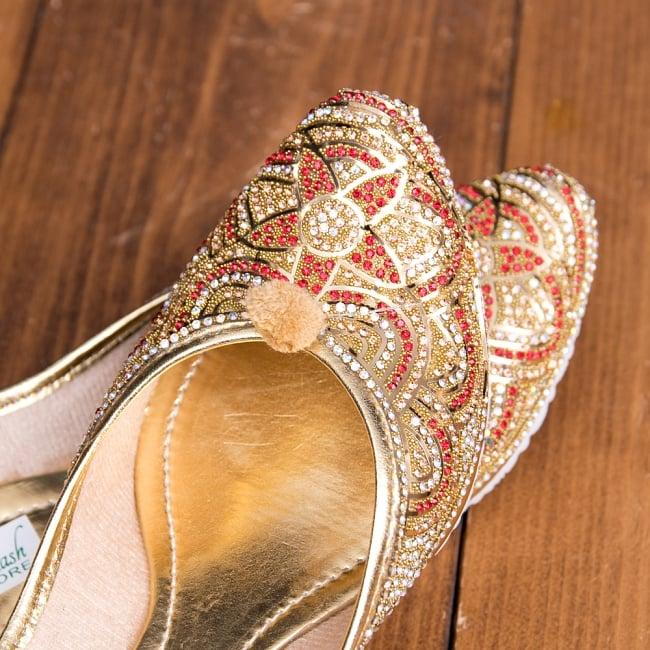 ゴージャス ラインストーンのマハラニフラットシューズ 8 - とても綺麗な装飾