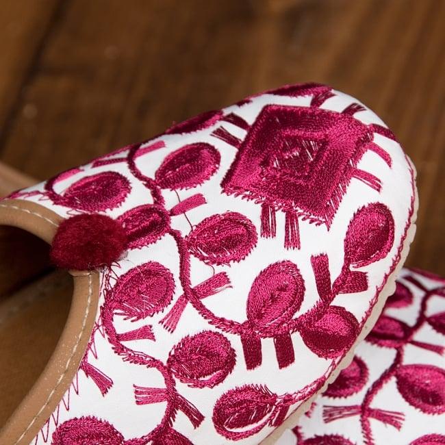 ゴージャス刺繍のマハラニフラットシューズ 4 - 別の角度から