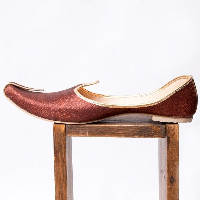 男性用宮廷靴 - モジャリブラウン 4 - 横からの写真です