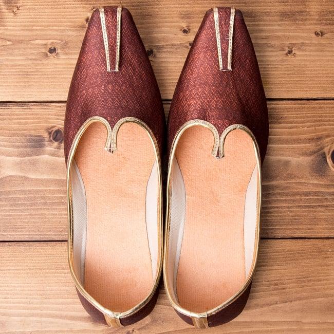 男性用宮廷靴 - モジャリブラウン 6 - 上からの写真です。