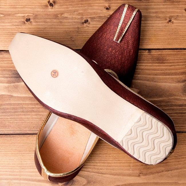 男性用宮廷靴 - モジャリブラウン 7 - 裏面はこのようになっています。