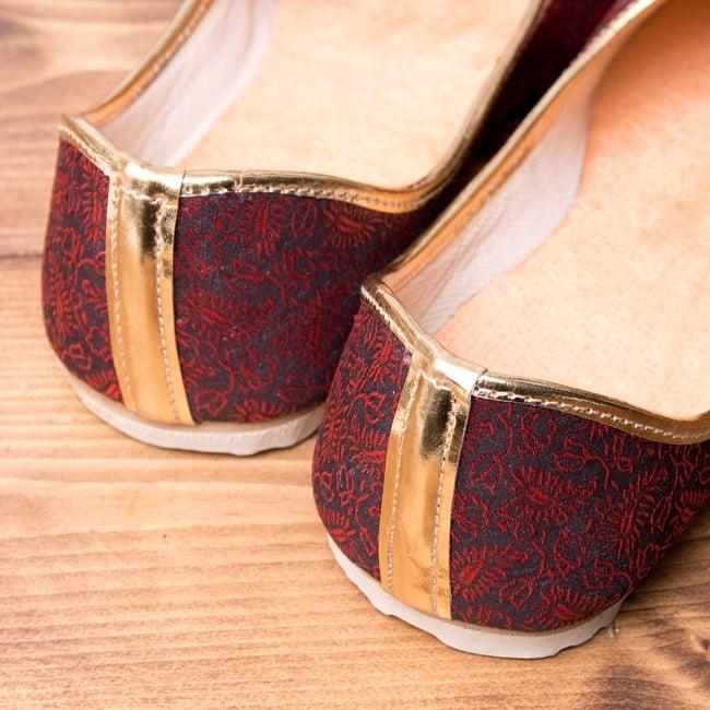 男性用宮廷靴 - モジャリレッド 5 - かかと部分の様子です。