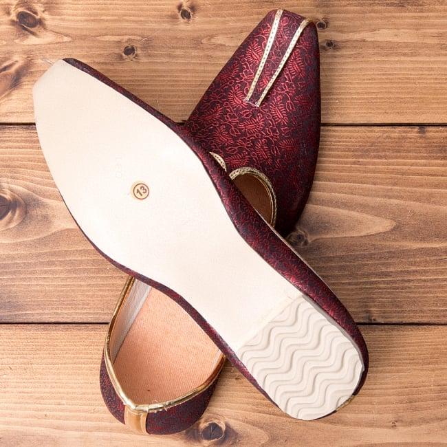 男性用宮廷靴 - モジャリレッド 7 - 裏面はこのようになっています。