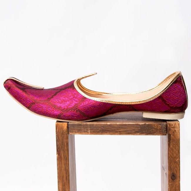 男性用宮廷靴 - モジャリパープル 4 - 横からの写真です