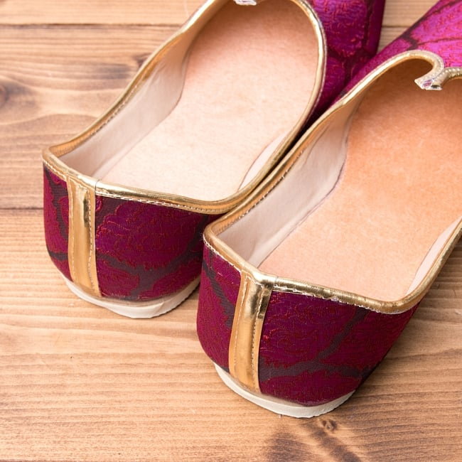 男性用宮廷靴 - モジャリパープル 5 - かかと部分の様子です。