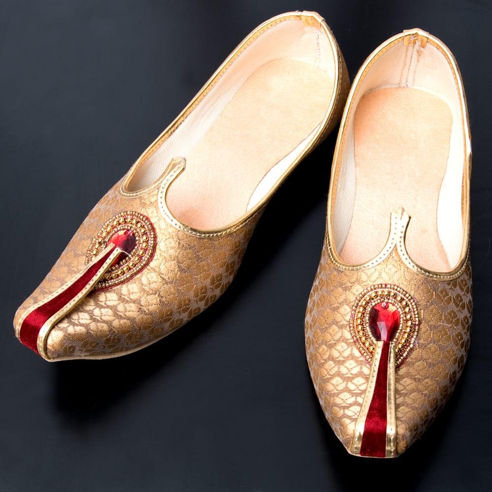 男性用宮廷靴 - モジャリゴールドの写真