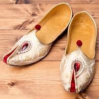 男性用宮廷靴 - モジャリレッド×ホワイト
