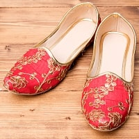 男性用宮廷靴 - モジャリレッド