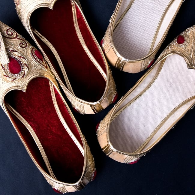 男性用宮廷靴 - モジャリブルー×ホワイト 8 - インソールの色は変更になる場合がございます。不良品ではございませんのでご了承下さいませ。