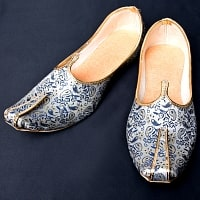 男性用宮廷靴 - モジャリブルー×ホワイト