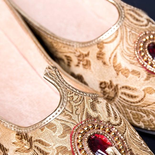 男性用宮廷靴 - モジャリゴールド 3 - 角度を変えてみてみました。