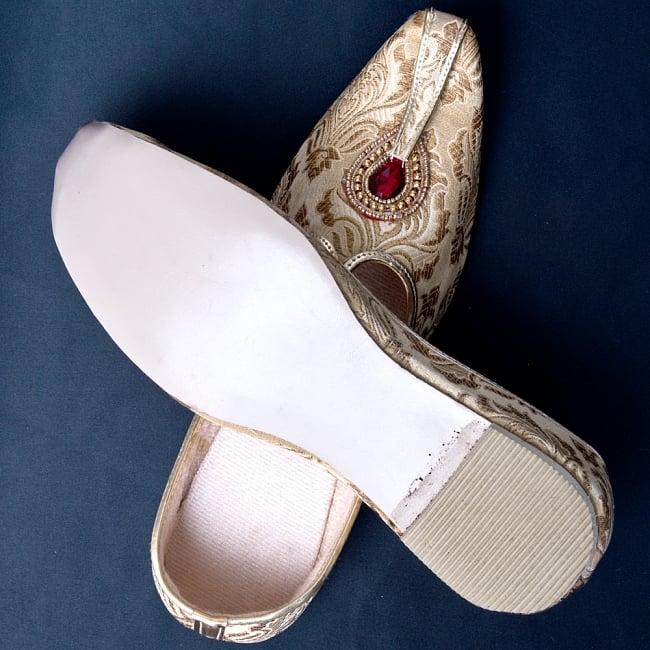 男性用宮廷靴 - モジャリゴールド 7 - 裏面はこのようになっています。