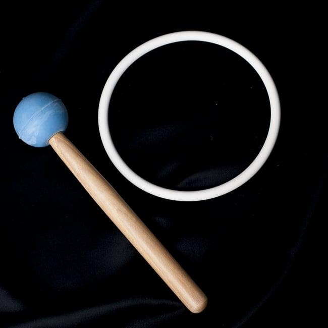 【G音程】第5チャクラ(throat)クリスタルシンギングボウル 直径40cmの写真4 - こちらのマレットと、台座が付属いたします