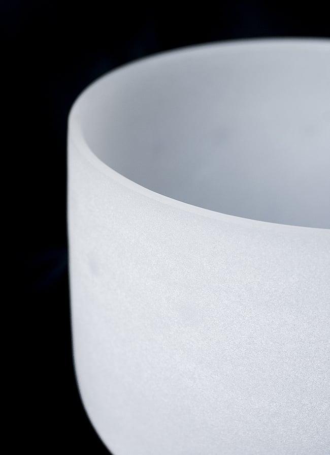 【B音程】第7チャクラ(crown)クリスタルシンギングボウル 直径20.5cmの写真2 - 上からの写真です