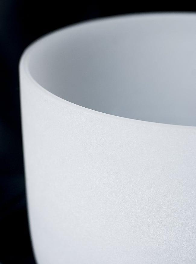 【F音程】第4チャクラ(heart)クリスタルシンギングボウル 直径23.5cmの写真2 - 上からの写真です
