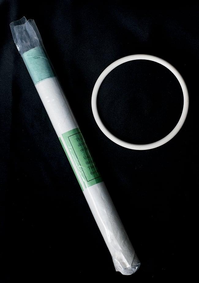 【F音程】第4チャクラ(heart)クリスタルシンギングボウル 直径23.5cmの写真4 - こちらのマレットと、台座が付属いたします