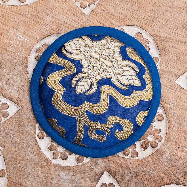 シンギングボウル用マット[10.5cm] 7 - 4:青×青
