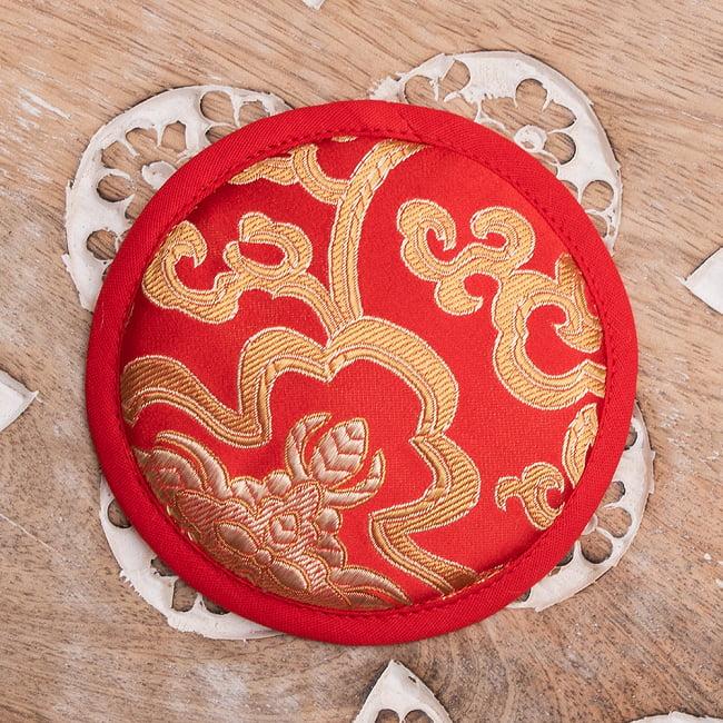 シンギングボウル用マット[10.5cm] 8 - 5:赤×赤