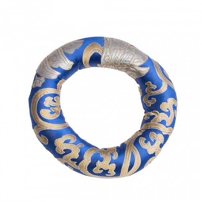 【中サイズ用】シンギングボウル用リング[直径約14cm] 8 - ブルー系の例です。