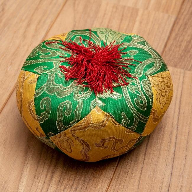 シンギングボウル用マット(13cm)【緑と黄色】の写真