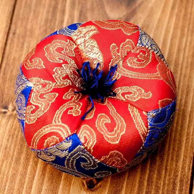 シンギングボウル用マット(10cm)【赤と青】 9 - 【選択A】上部の紐紺色