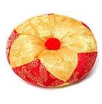 シンギングボウル用マット(12cm)【赤と黄色 紋様あり】