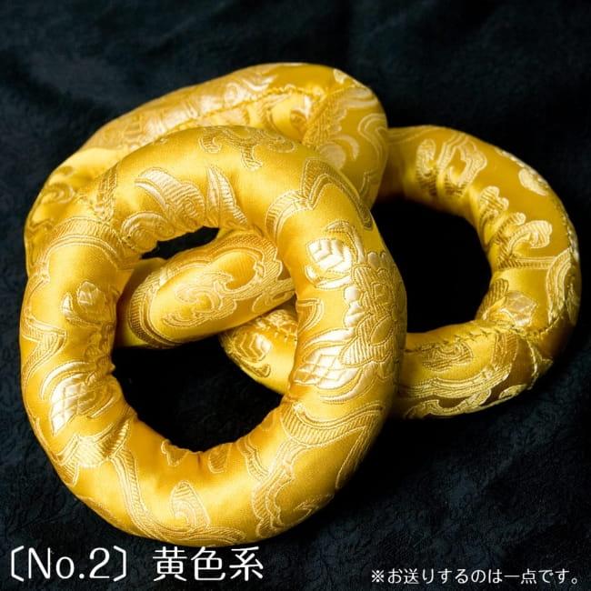 シンギングボウル用リング[直径約11cm] 5 - 黄色のものです