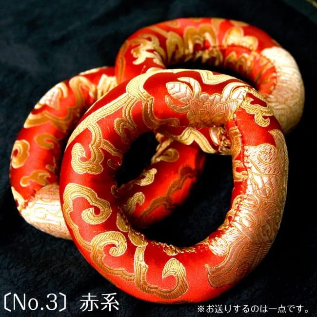 シンギングボウル用リング[直径約11cm] 6 - 赤色のものです