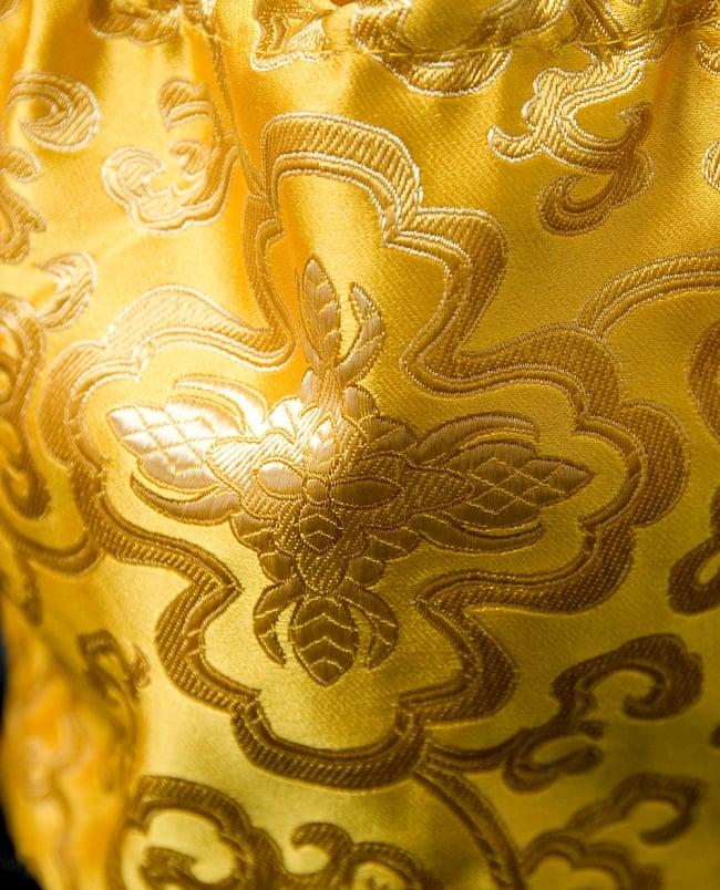 シンギングボウル用携帯巾着 中サイズ 2 - 一部を拡大してみました。