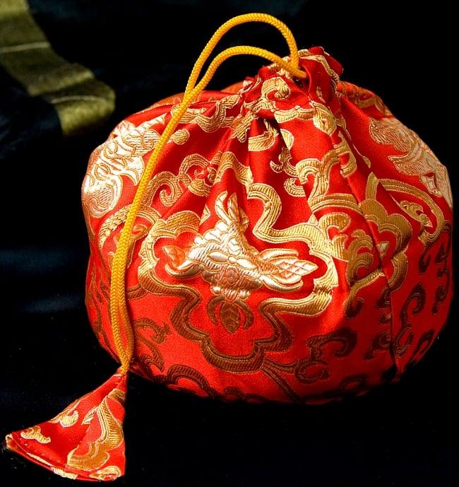シンギングボウル用携帯巾着 中サイズの写真8 - 赤色のものです