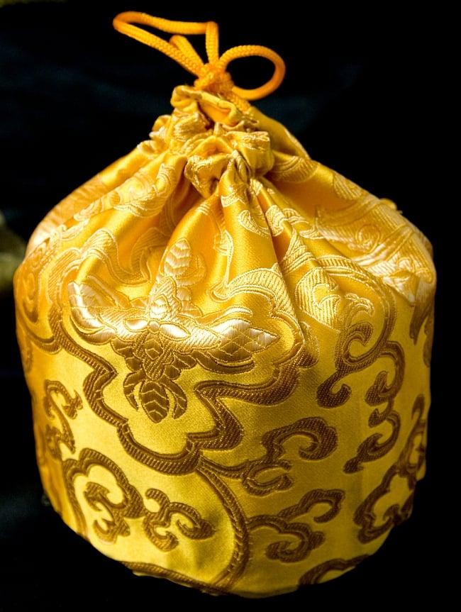 シンギングボウル用携帯巾着 大サイズ 9 - 黄色のものです