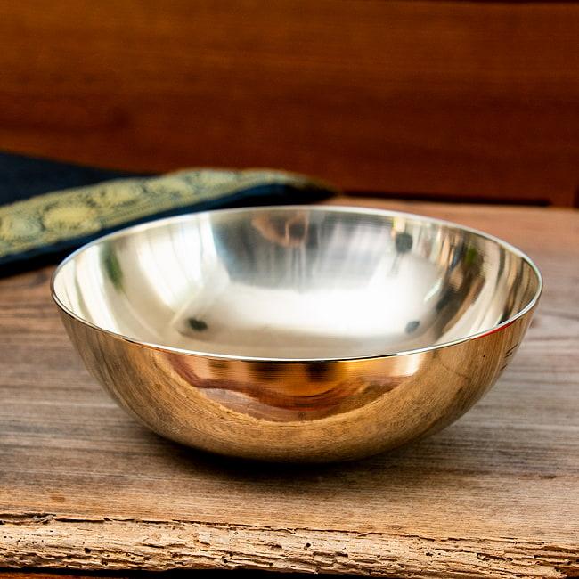 高音質シンプルシンギングボウル16.7cm平型の写真2 - 上からの写真です。