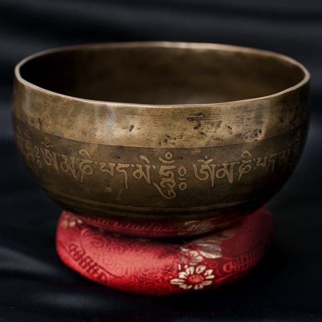 【一点物】チベタンシンギングボウル【音階:G#】656g(スティック付属)の写真