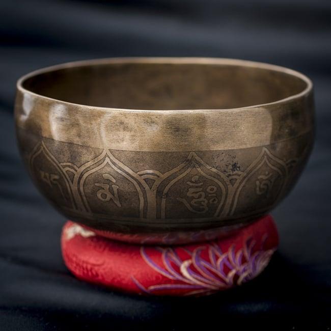 【一点物】チベタンシンギングボウル【音階:D#】601g(スティック付属)の写真