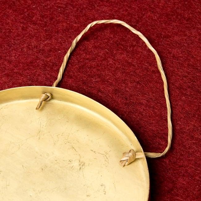 ベトナムのゴング(銅鑼)18cm 4 - 裏面の写真です