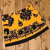 〔1点物〕カッチ地方のトライバル刺繍ミニスカート