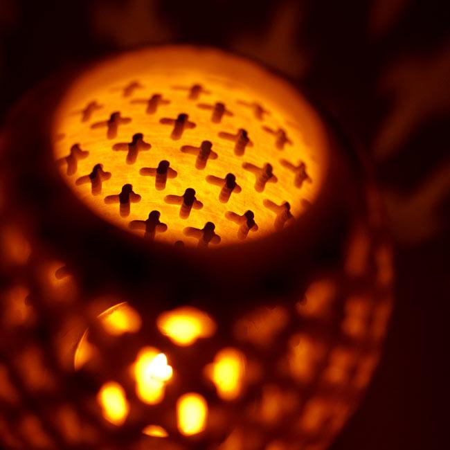 上部開放型 - ソープストーン丸形キャンドル&お香スタンドの写真13 - 上部の写真です。