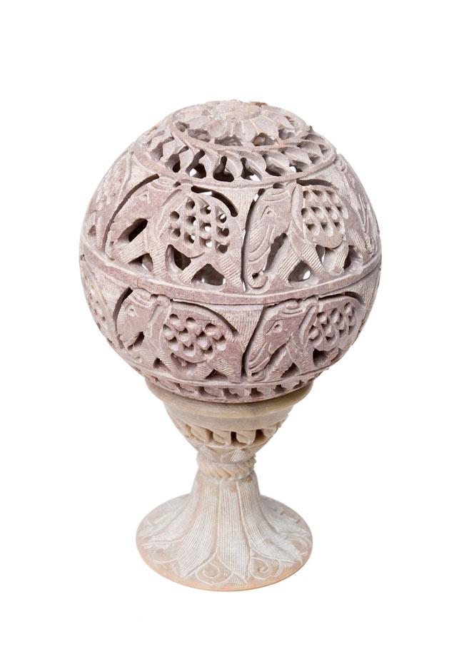 球形 - ソープストーンキャンドル&お香立ての写真8 - 【選択5】Eです。